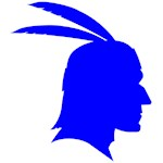 Blue Native American Outline