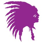 Purple Indian Headdress Outline