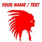 Custom Red Indian Headdress Outline