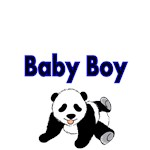 Baby Boy. With Cute Panda Picture