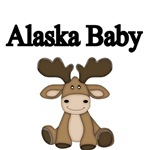 ALASKA BABY WITH CUTE BABY MOOSE