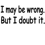 I May Be Wrong. But I Doubt It.l
