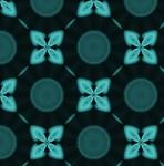 Glowing Turquoise Flower Pattern