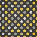 Cute Yellow and Black Polka Dots