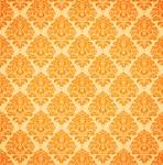 Pretty Orange Damask