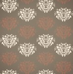 Ivory and Deep Pink Damask