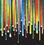 Colorful Dripping Sparkles