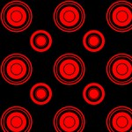 Red and Black Super Circles Pattern
