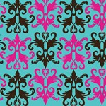 Brown and Pink Damask