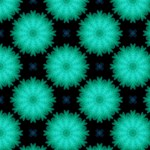 Large Fluffy Turquoise Flower Pattern