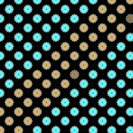 Turquoise and Brown Flower Pattern