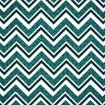 Turquoise Damask Patterned Chevron Stripes