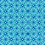 Light Blue Flower and Diamond Shapes Pattern