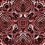 Deep Pink and Black Tribal Design