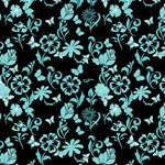 Turquoise Flowers Pattern