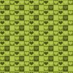 Cute Green Hearts Pattern