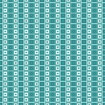 Turquoise and White Squares In Squares Pattern