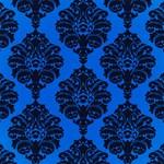 Large Blue Damask Pattern