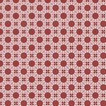 Muted Red India Inspired Circles Pattern