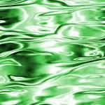 Contemporary Liquid Green Reflection
