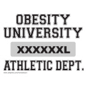 OBESITY UNIVERSITY T-SHIRTS AND GIFTS