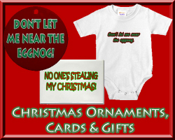 Merry Christmas Ornaments, Cards, Gifts & Shirts