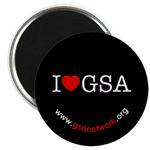 I HEART GSA BUTTONS & MAGNETS