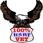 100% USAF Vet Eagle