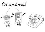 Rotary Cell Phone Grandma