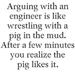 Arguing engineer