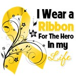 Ribbon Hero in My Life Childhood Cancer Shirts