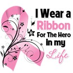 Ribbon Hero in My Life Breast Cancer Shirts