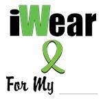 I Wear Lime Green Ribbon Shirts & Apparel T-Shirts
