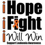 Hope, Fight & Win Leukemia T-Shirts & Gifts