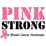 Pink Strong Breast Cancer Awareness T-Shirts