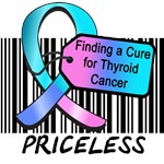 Finding a Cure Thyroid Cancer Priceless T-Shirts