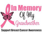 In Memory Of My Grandmother Breast Cancer T-Shirts