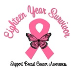 18 Year Breast Cancer Survivor T-Shirts