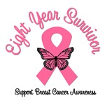 8 Year Breast Cancer Survivor T-Shirts
