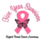 5 Year Breast Cancer Survivor T-Shirts