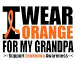 I Wear Orange For My Grandpa Leukemia Shirts