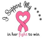 Breast Cancer Support Pink Ribbon Heart T-Shirts