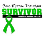Bone Marrow Survivor Since 2002 Shirts & Gifts