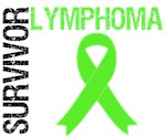 Lymphoma Survivor Distressed Style T-Shirts & Gift