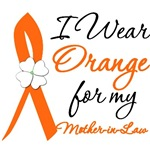 I Wear Orange Flower MotherInLaw Leukemia Shirts