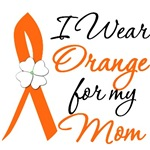 I Wear Orange Flower Mom Leukemia Shirts