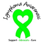 Lymphoma Awareness Heart Ribbon T-Shirts & Gifts