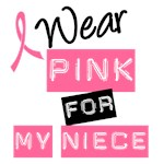 I Wear Pink Ribbon For My Niece Label T-Shirts