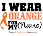 Leukemia Sporty I Wear Orange Ribbon Swag