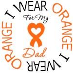 I Wear Orange Dad Leukemia Shirts